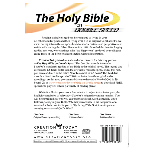 The Holy Bible on Double Speed (KJV) Audio MP3 back