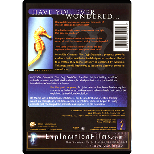 Incredible Creatures that Defy Evolution Part II DVD back