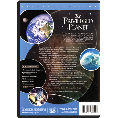 The Privileged Planet DVD back