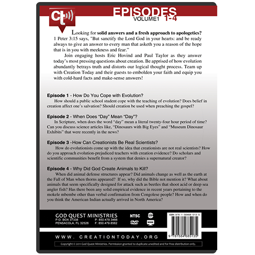 The Creation Today Show: Vol 1, Episodes 1-4 back