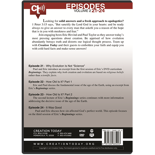 The Creation Today Show: Vol 2, Episodes 21-24 back