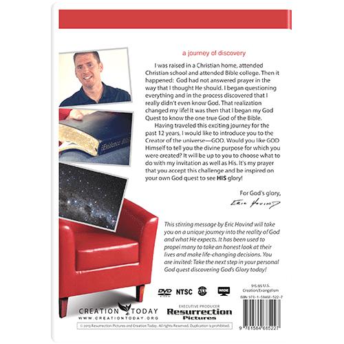God's Glory Message DVD back