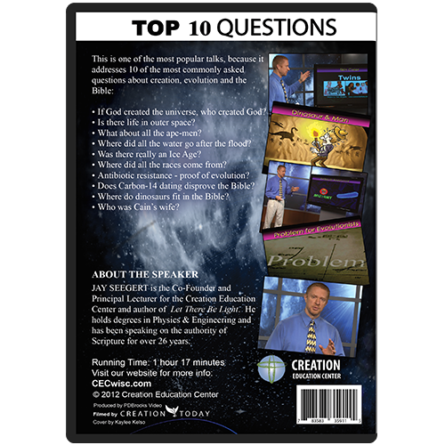 Top 10 Questions on Creation & Evolution back