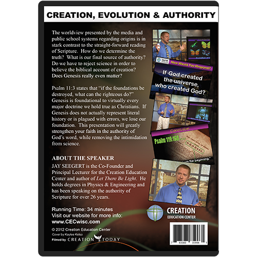 Creation, Evolution & the Authority of Scripture back