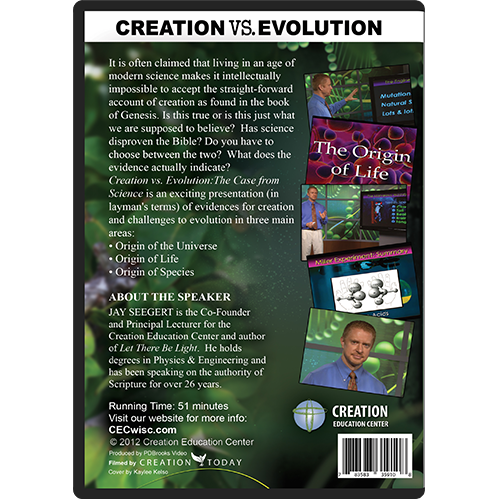 Creation vs. Evolution: The Case From Science back