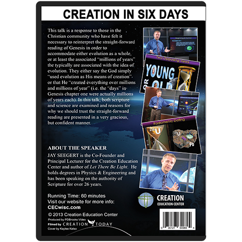 Creation in Six Days: A Biblical & Scientific Analysis back