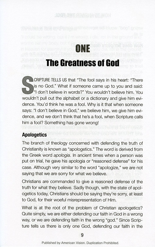 How to Answer the Fool: A Presuppositional Defense of the Faith DVD Study Guide page 2