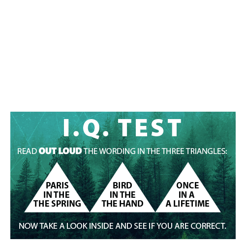 IQ Test Triangles Tract