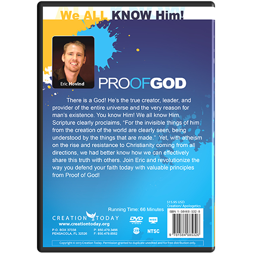 Proof of God Message DVD back