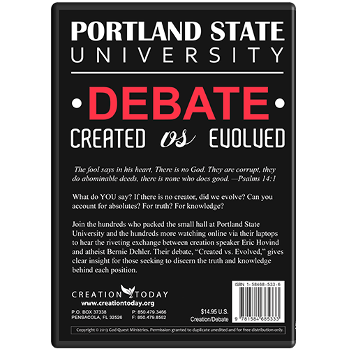 Portland State University Debate Created vs Evolved back