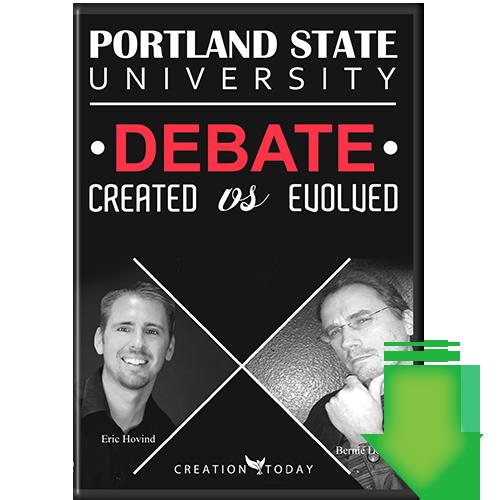 Portland State University Debate Created vs Evolved (Video Download)