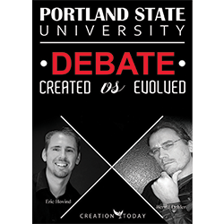 Portland State University Debate-Created vs Evolved DVD