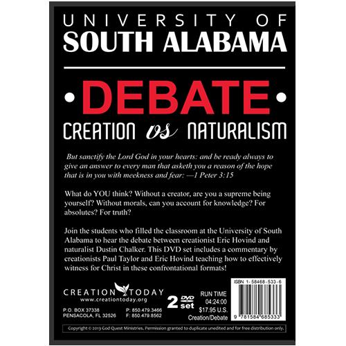 University of South Alabama Debate Creation vs Naturalism (Video Download)