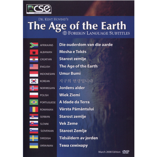 The Age of the Earth with International Subtitles DVD