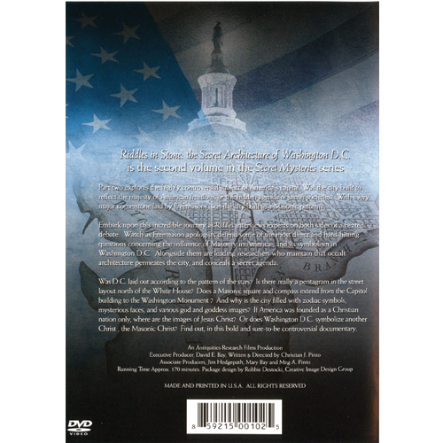Riddles In Stone: the Secret Architecture of Washington D.C. DVD