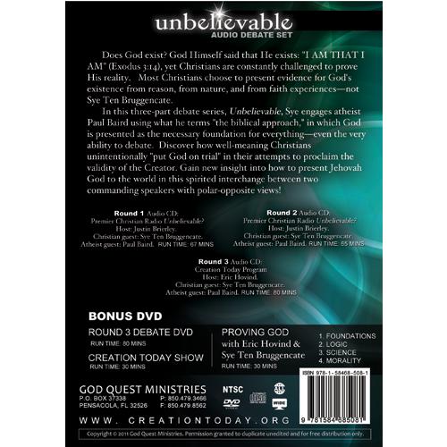 Unbelievable Audio Debate Set (with bonus DVD)