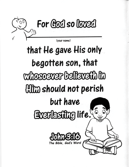 God's Love for You (Coloring Book)