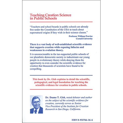 Teaching Creation Science in Public Schools