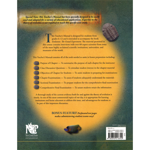 Evolution: The Grand Experiment Teacher's Manual
