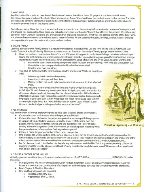Adams' Chart of History Teacher's Guide