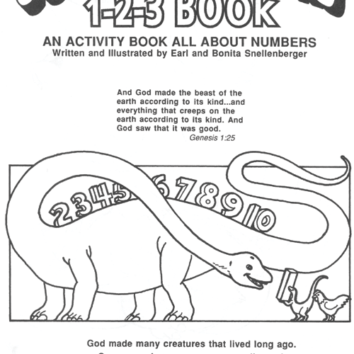 God's Dinosaurs 1 2 3 Book