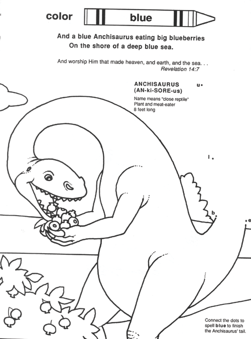 God's Dinosaurs Color Book