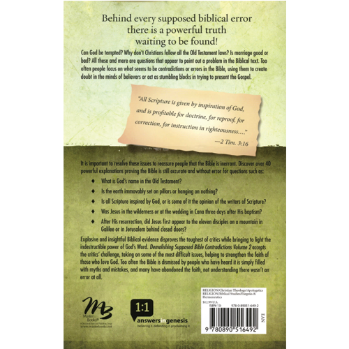 Demolishing Supposed Bible Contradictions (Vol 2) eBook (EPUB, MOBI)