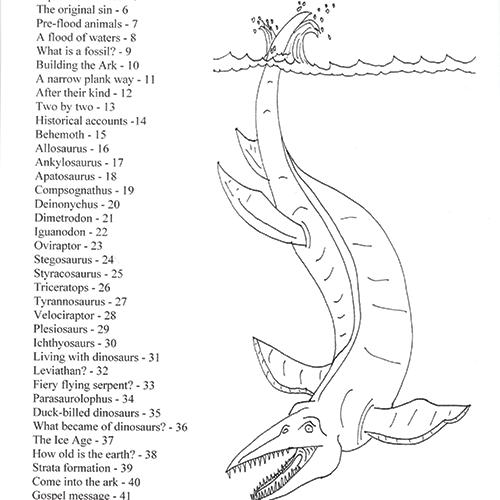 Noah's Ark & Dinosaurs Coloring Book