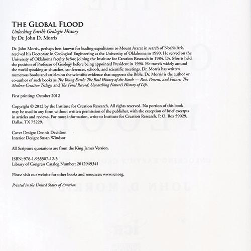 The Global Flood: Unlocking Earth's Geologic History