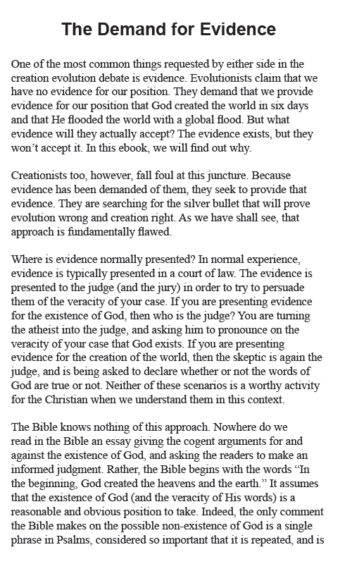 Creation Today Commentary: Evidence vs. Proof eBook