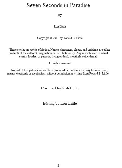 Seven Seconds in Paradise eBook (EPUB, MOBI, PDF)