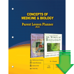 Concepts of Medicine and Biology (Parent Lesson Planner) eBook (PDF)