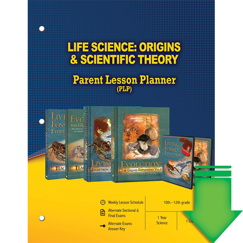 Life Science: Origins and Scientific Theory (Parent Lesson Planner) eBook (PDF)