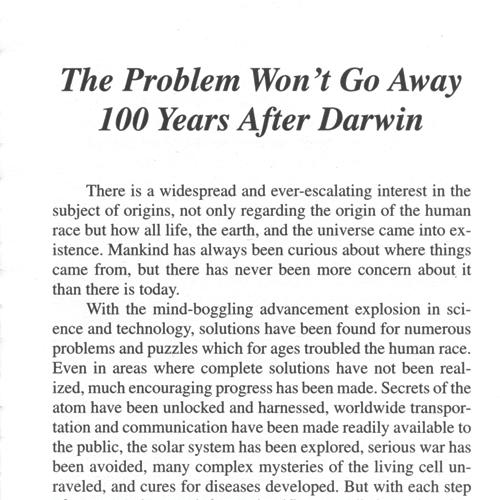 Darwin's Enigma