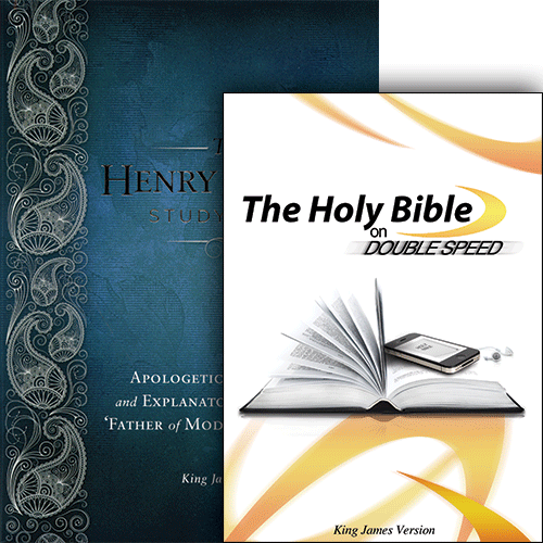 Henry Morris Study Bible (Hardcover) and The Holy Bible on Double Speed