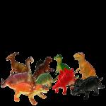 "Plastic 6""- 8"" Dinosaurs"