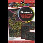 Dinosaurs Scratch Art