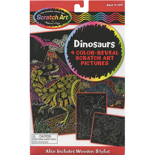 Dinosaurs Scratch Art