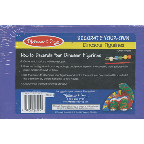 Dinosaur Figurines: Paint Your Own