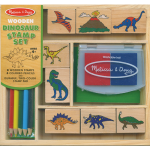 Wooden Dinosaur Stamp Set