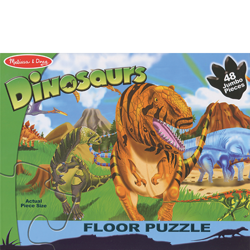 Land of Dinosaurs Floor Puzzle 4' Long
