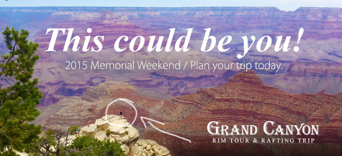 This could be you! Grand Canyon Rim and Rafting Trip