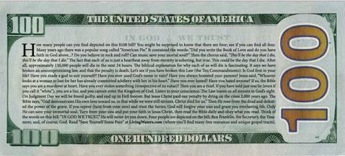 Giant Money Tract Back