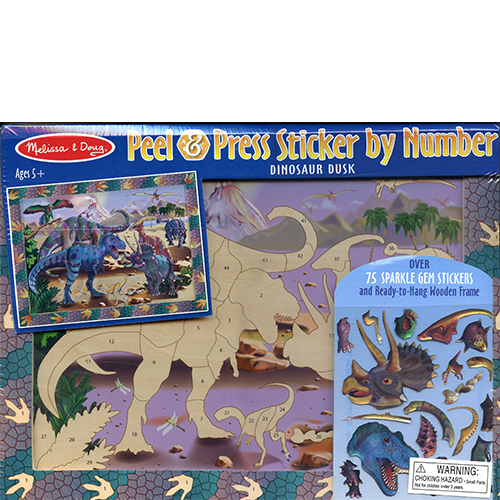 Peel & Press Sticker by Number-Dinosaur Dusk