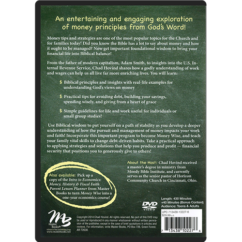 Money Wise: Biblical Principles of Work & Finances DVD