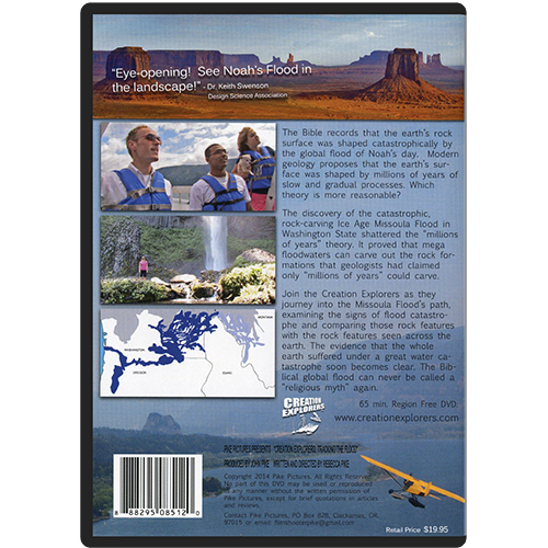 Creation Explorers: Tracking the Flood DVD back