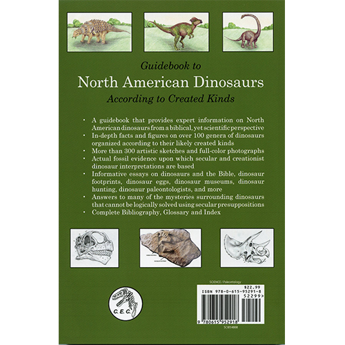 Guidebook to North American Dinosaurs According to Created Kinds back