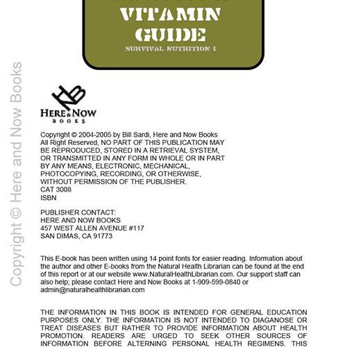 Survival Vitamin Guide eBook (PDF) read inside
