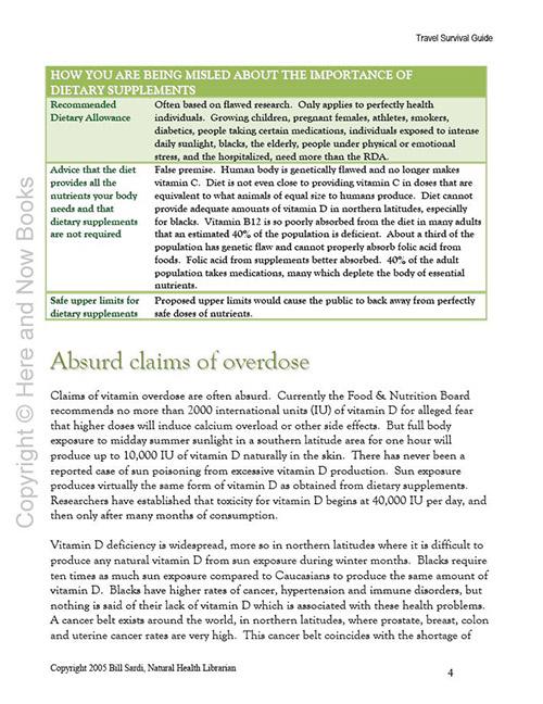 Survival Vitamin Guide eBook (PDF) read inside