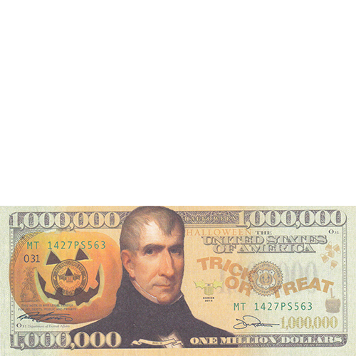 Halloween Million Dollar Bill Tract